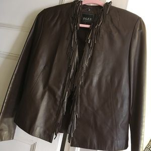 Chocolate Brown Leather Jacket - Adler Collection
